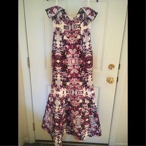 Camille La Vie/Xscape: Purple off shoulder dress